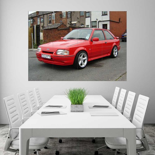 Ford Escort RS Turbo Cosworth Block Giant Wall Art Poster
