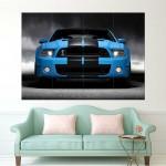 โปสเตอร์ ขนาดใหญ่ รถฟอร์ด มัสแตง  Ford Mustang V8 American Muscle Car
