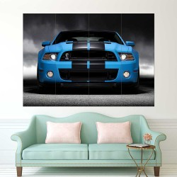 Ford Mustang V8 American Muscle Car  Block Giant Wall Art Poster (P2466)