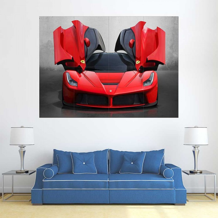 Ferrari F50 Supercar Sports Car Block Giant Wall Art Poster