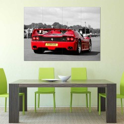 Ferrari F50 V12 V8 Supercar  Block Giant Wall Art Poster (P-2468)