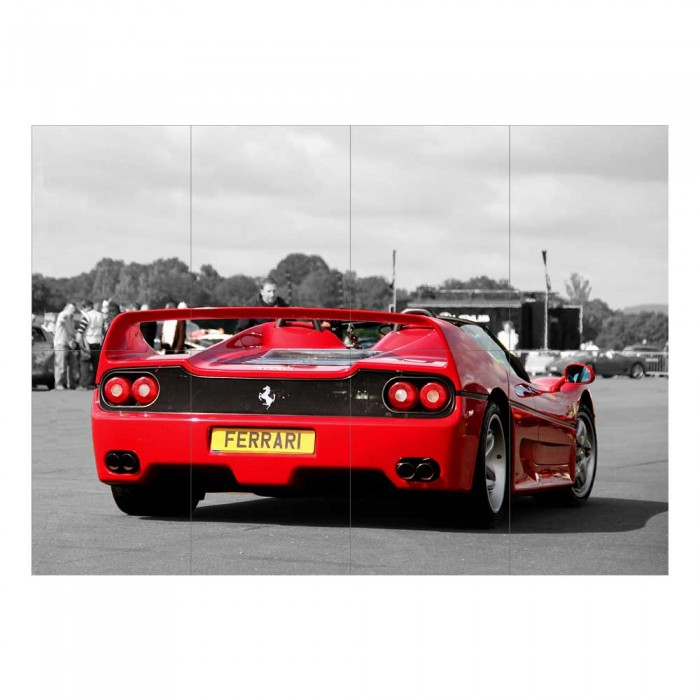 Ferrari F50 V12 V8 Supercar Block Giant Wall Art Poster