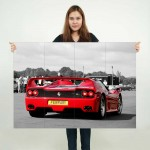 Ferrari F50 V12 V8 Supercar Block Giant Wall Art Poster
