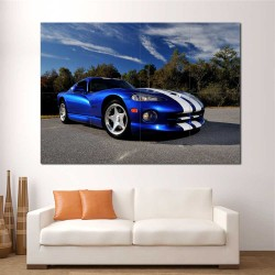 Dodge Viper GTS Auto Sport Car  Block Giant Wall Art Poster (P-2469)