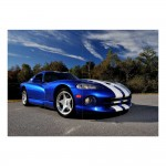 Dodge Viper GTS Auto Sport Car Block Giant Wall Art Poster