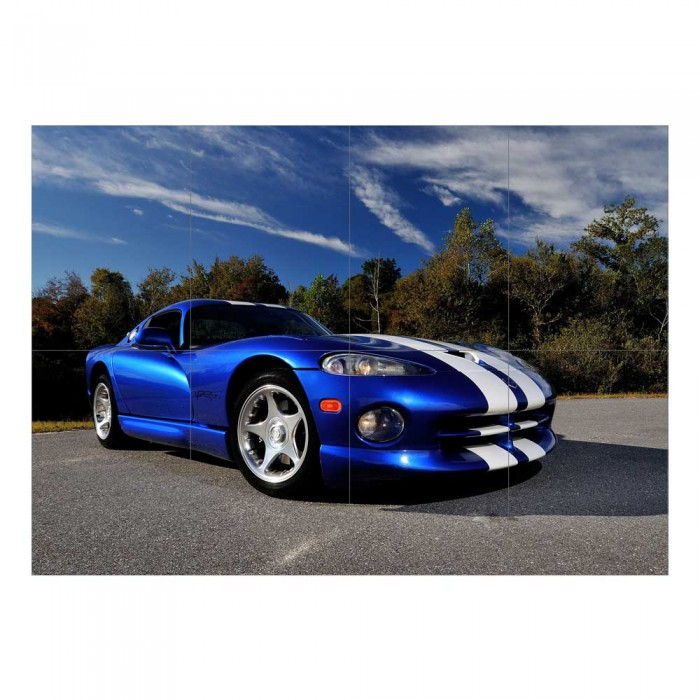 Dodge Viper GTS Auto Sport Car Block Giant Wall Art Poster