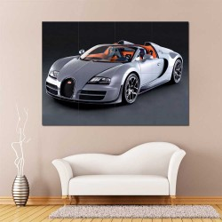 Bugatti Veyron Super Sport Car Supercar  Block Giant Wall Art Poster (P-2470)