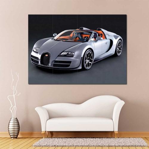 Bugatti Veyron Super Sport Car Supercar Block Giant Wall Art Poster