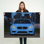 BMW M5 Sport Car Block Giant Wall Art Poster