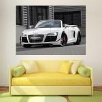 Audi R8 Spyder Supercar Car Block Giant Wall Art Poster