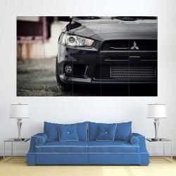 Mitsubishi Lancer EVO Rally Car  Block Giant Wall Art Poster (P-2475)