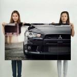โปสเตอร์ ขนาดใหญ่ รถมิตซูบิชิ แลนเซอร์ Mitsubishi Lancer EVO Rally Car