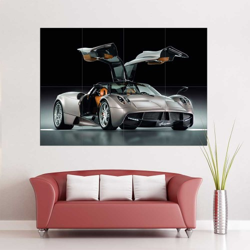 pagani huayra gunmetal auto supercar wand kunstdruck riesenposter. Black Bedroom Furniture Sets. Home Design Ideas