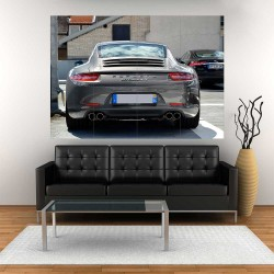 Porsche 911 Carrera S Turbo Car  Block Giant Wall Art Poster (P-2477)
