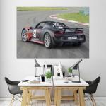 โปสเตอร์ ขนาดใหญ่ รถปอร์เช่ Porsche 918 Spyder Car