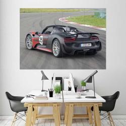 Porsche 918 Spyder Car  Block Giant Wall Art Poster (P-2478)