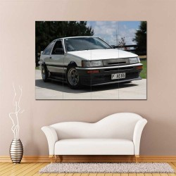 Toyota AE86 Corolla Levi Car  Block Giant Wall Art Poster (P-2482)