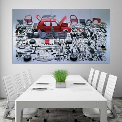 Volkswagen VW Golf MK2 Car Part  Block Giant Wall Art Poster (P-2484)