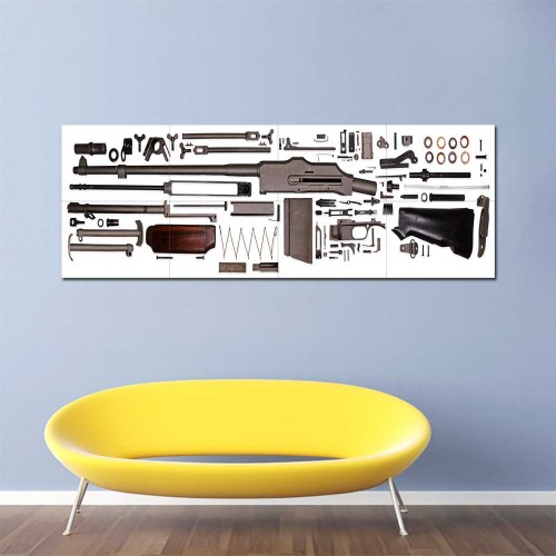 M1918 Browning Automatic Rifle Assembly Block Giant Wall Art Poster