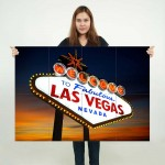 Las Vegas American Poker Sin City Block Giant Wall Art Poster
