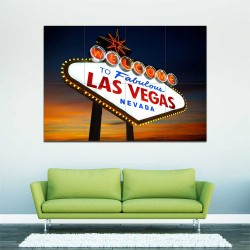 Las Vegas American Poker Sin City  Block Giant Wall Art Poster (P-2487)