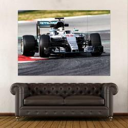 Lewis Hamilton Mercedes Formula 1  Block Giant Wall Art Poster (P-2488)