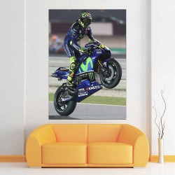 Valentino Rossi Motorcycle sport Block Giant Wall Art Poster (P-2489)