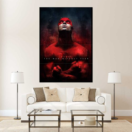 DareDevil Charlie Cox DD Block Giant Wall Art Poster