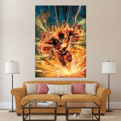 The Flash Super HerosDc Block Giant Wall Art Poster (P-2496)