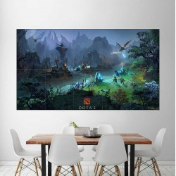 Dota 2 Mid Lane Video Game  Block Giant Wall Art Poster (P-2498)