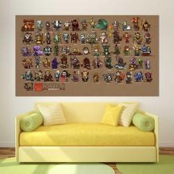 Dota 2 Mini Heroes Character   Block Giant Wall Art Poster (P-2499)