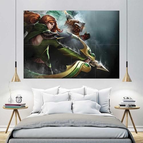 Lyralei Windrunner Dota 2 Block Giant Wall Art Poster