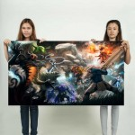 Dota 2 Team Fight Friends and Foes Block Giant Wall Art Poster