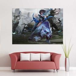 Mirana Priestess of the Moon Dota 2  Block Giant Wall Art Poster (P-2503)