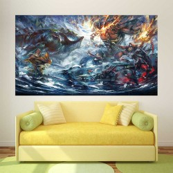 DOTA 2 Epic Battle  Block Giant Wall Art Poster (P-2507)