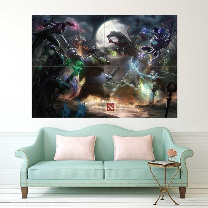 dota 2 clash of heroes wand kunstdruck riesenposter. Black Bedroom Furniture Sets. Home Design Ideas