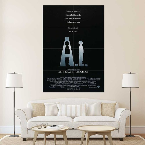A.I. Artificial Intelligence Movie Block Giant Wall Art Poster