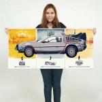 Back to the Future DeLorean DMC-12 Car Block Giant Wall Art Poster