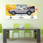 Back to the Future DeLorean DMC-12 Car Block Giant Wall Art Poster