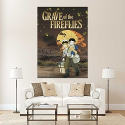 Grave of the Fireflies Movie Block Giant Wall Art Poster (P-2519)