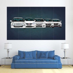 Honda Civic Type R  Block Giant Wall Art Poster (P-2539A)