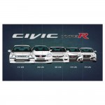 Honda Civic Type R Generation Block Giant Wall Art Poster