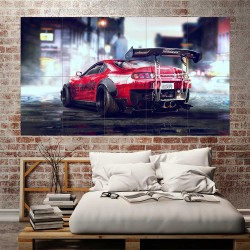 Toyota Supra Need for Speed Car  Block Giant Wall Art Poster (P-2561)