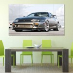 Toyota Supra Sport Car Block Giant Wall Art Poster