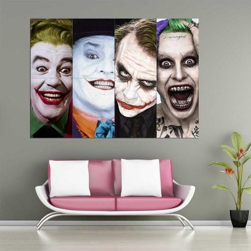 Joker Batman 1966 - 2016 Block Giant Wall Art Poster