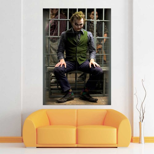 Joker Heath Ledger Block Giant Wall Art Poster