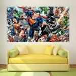 DC Superhero Univeres Block Giant Wall Art Poster