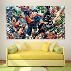 DC Superhero Univeres  Block Giant Wall Art Poster (P-2565)