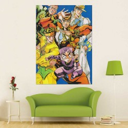 Jojo's Bizarre Adventure Diamond Is Unbreakable Block Giant Wall Art Poster (P-2580)
