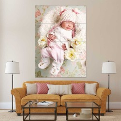 Kids Baby Children Picture serie 2 Block Giant Wall Art Poster (P-2595)